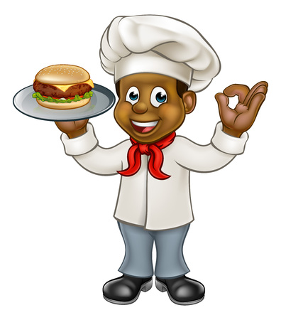 Chef Holding Burger