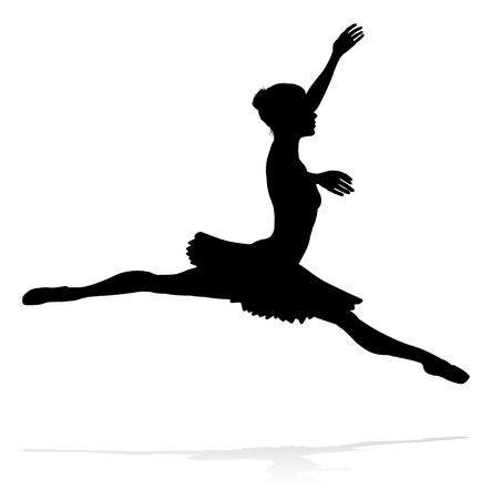 Ballet Dancer Dancing Silhouette Illusztráció