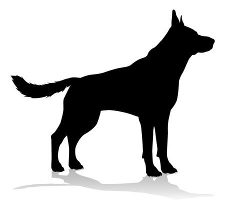 Dog Silhouette Pet Animal  イラスト・ベクター素材