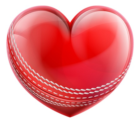 Cricket Ball In A Heart Shape