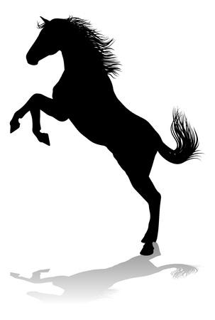 Horse Silhouette Animal Stock Vector - 105819975