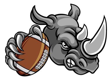 Rhino American Football Maskottchen