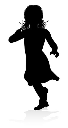 Child Silhouette Иллюстрация