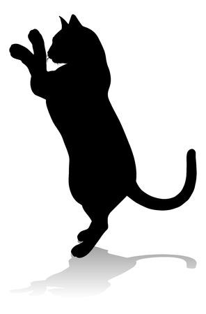 Silhouette Cat Pet Animal Ilustração