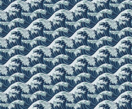 Wave Seamless Pattern Print