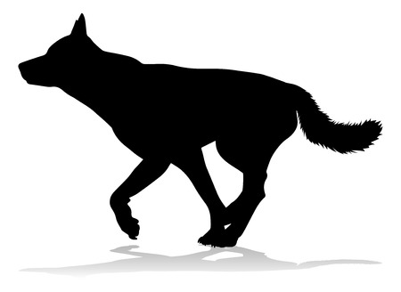 A detailed animal silhouette of a pet dog Stock Vector - 107656339