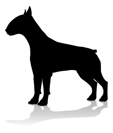 Dog Silhouette Pet Animal Vettoriali