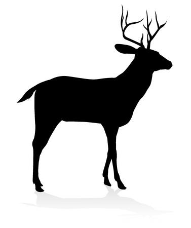Deer Animal Silhouette Stock Photo