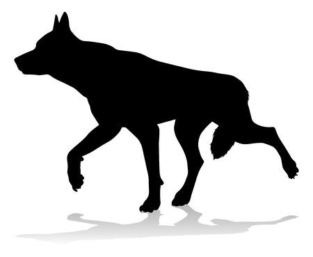 Dog Silhouette Pet Animal Stock Photo