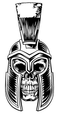 Grafico Spartan Skull Vettoriali