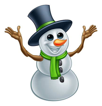 Snowman Christmas Cartoon Character