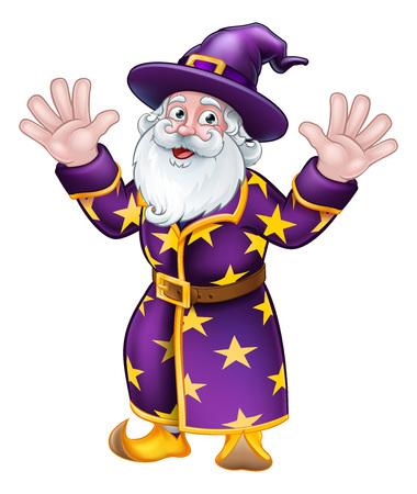 Wizard Cartoon Character Mascot