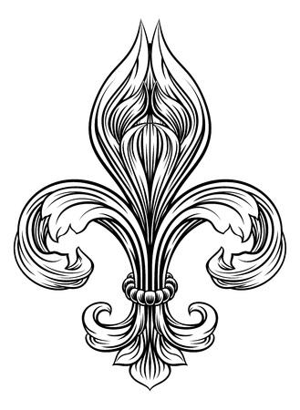 Fleur De Lis Graphic Design Element 向量圖像
