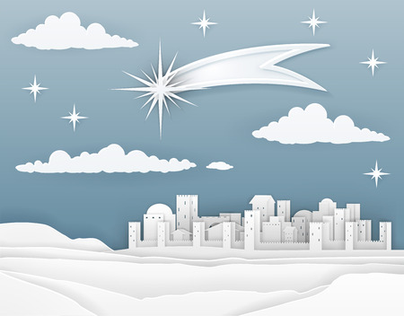 Nativity Christmas Bethlehem Paper Scene