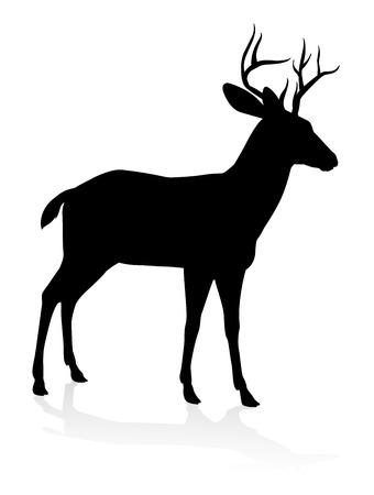 Silueta animal de alta calidad de un ciervo