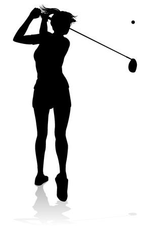 Golfeur Golf Sport Personne Silhouette