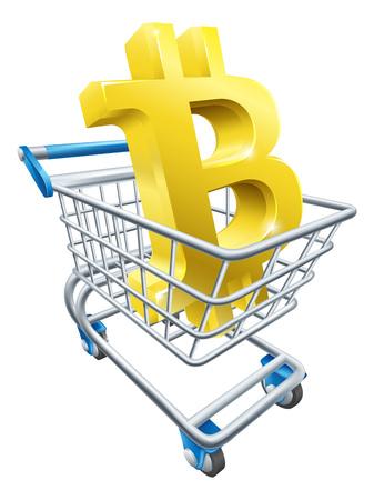Shopping Cart Bitcoin Concept