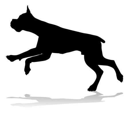 Dog Silhouette Pet Animal Ilustracja