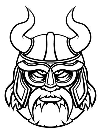 Caractère de mascotte de sport de guerrier viking
