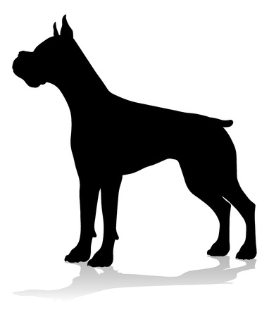 Dog Silhouette Pet Animal Ilustrace