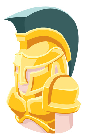 A Spartan Trojan Roman gladiator man avatar cartoon person icon emoji