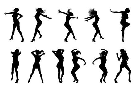 Dance Dancer Silhouettes Vector Illustration