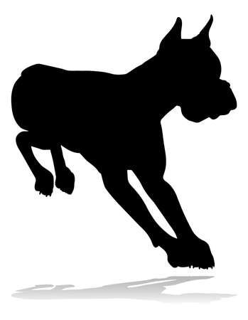 Dog Silhouette vector illustration