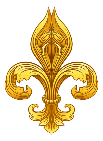 Gold Fleur De Lis Graphic Design vector illustration