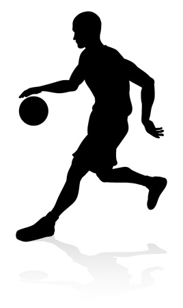 A basketball player silhouette sports illustration Stock Illustratie