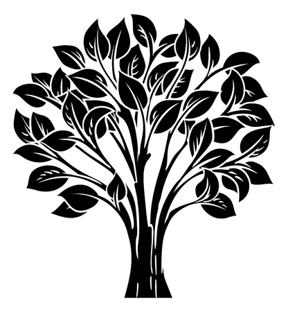 Concept illustration of a stylised tree