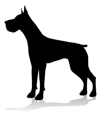 Hund Silhouette Haustier Tier Vektorgrafik