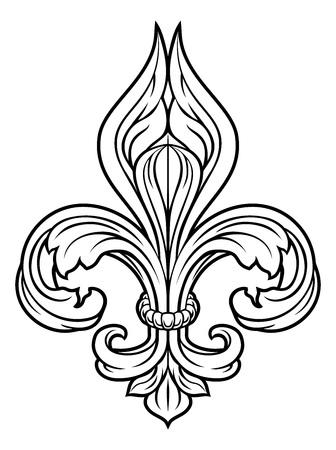 Elemento de diseño gráfico Fleur De Lis Ilustración de vector