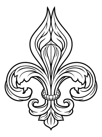 Fleur De Lis Graphic Design Element Vettoriali