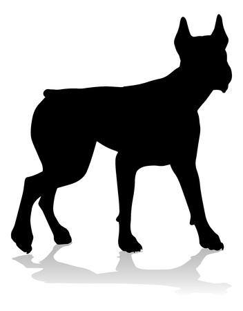 Perro Silueta Animal Doméstico Ilustración de vector