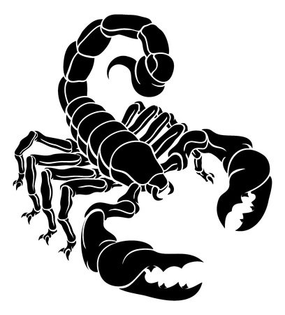 Scorpion Scorpio Zodiac Sign Design Ilustracja