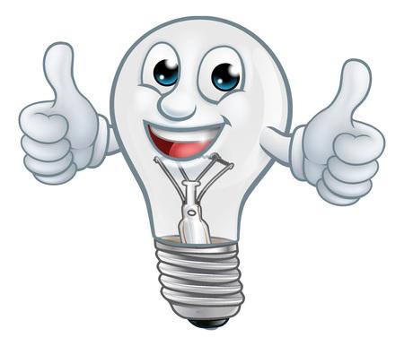 Light Bulb Cartoon Character Lightbulb Mascot Ilustracje wektorowe