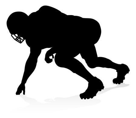 Silhouette American Football Player Stok Fotoğraf - 115206263