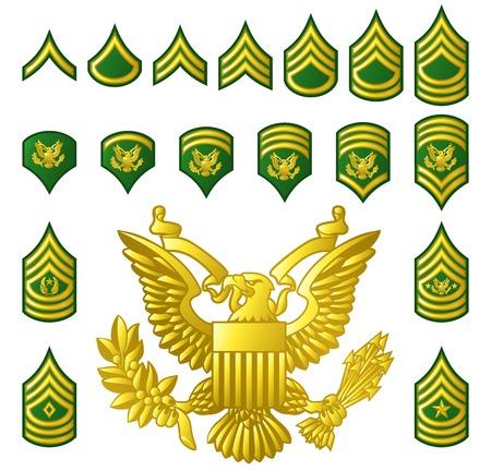 Insigne de grades enrôlés de l'armée militaire