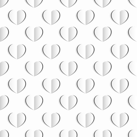 Heart White Paper Seamless Pattern Background