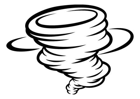 Tornado Twister Cyclone or Hurricane Icon Concept