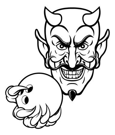Devil Bowling Sports Mascot