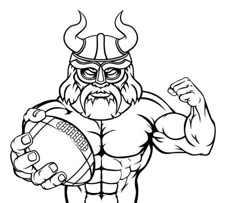 Viking American Football Sports Mascot Stock Vector - 116873921