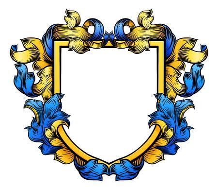 Blason Crest Chevalier Héraldique Famille Bouclier