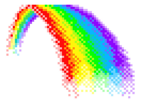 Rainbow Pixel Art 8 Bit Arcade Video Game Icon