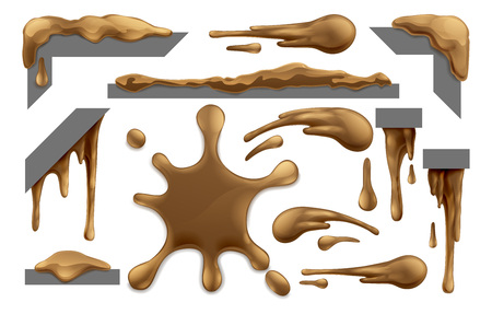 Mud or Chocolate Messy Blobs Splats and Drips