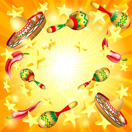 Fondo temático de vacaciones mexicanas del Cinco de Mayo