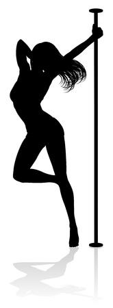 Pole Dancer Woman Silhouette