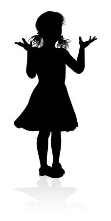 Child Kid Silhouette Иллюстрация