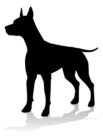 Dog Silhouette Pet Animal Иллюстрация