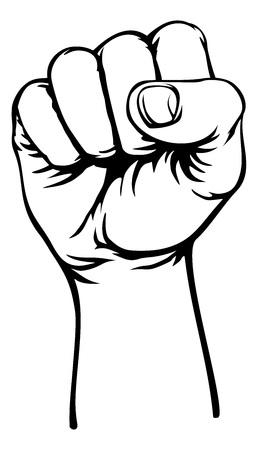 Retro Revolution Hand Fist Raised Air Propaganda